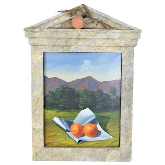 Christopher Pelley Sculptural Oil Painting Apples (Oranges) of the Hesperides