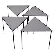 Vintage Mid-Century Modern Set of Four Triangle Stacking Side Tables
