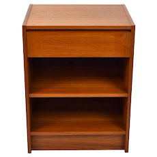 Vintage Danish Modern Teak Nightstand End Table