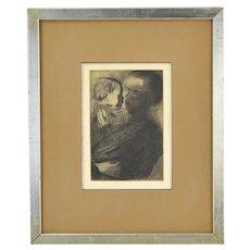 Kathe Kollwitz Etching Mother Child Mutter mit Kind German Expressionist
