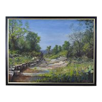"""David William Terry Texas Hill Country Landscape Painting """"Mason Ravine"""""""