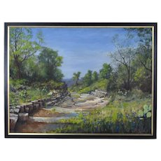 "David William Terry Texas Hill Country Landscape Painting ""Mason Ravine"""