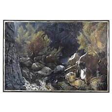 "Landscape Painting Big Bend National Park ""The Window"" Trail Earl Staley Texas"