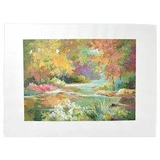 "Alix Rowena Stefan ""Where Every Season is Beautiful"" Landscape Painting"