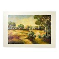 "Alexa Kelemen ""Eventide"" Landscape Oil Painting Romanian Artist"