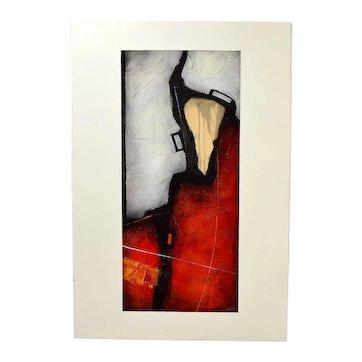 "Original Sebastian Alterera ""Elusive Dimensions"" Abstract Modernist Oil Painting"