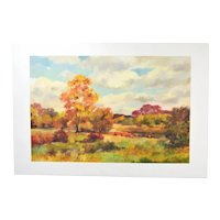 Joro Petkov Original Painting Autumn Landscape Bulgarian Canadian artist