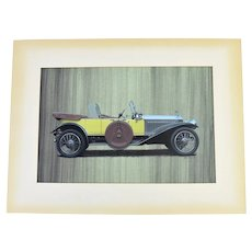 Bob Rector Automobile Illustration Painting 1920's Rolls Royce?