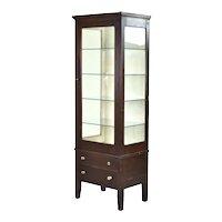 Antique Allison Company Mahogany Medical Dental Display Cabinet