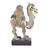 Frank Meisler Limited Edition Brutalist Bronze Articulated Dromedary Camel Sculpture