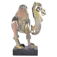 Frank Meisler Limited Edition Brutalist Bronze Articulated Dromedary Camel Sculpture