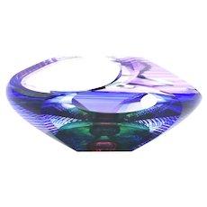 "Kit Karbler & Michael David Blake Street ""Vortex Bowl"" Art Glass Sculpture"