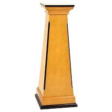 Vintage Neoclassical Biedermeier Style Solid Wood Sculpture Stand Pedestal
