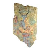 Ancient Egyptian Temple of Seiti Shrine of Sethos Priest Bas-Relief Plaque