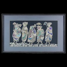 They Clattered Home in Their Pattens 1960 Lithograph by Baker - Red Tag Sale Item