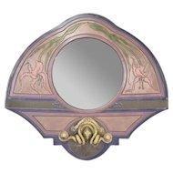 Marc Sijan Pottery Mirror Art Nouveau Stylized Flowers