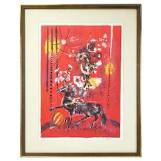 Circus Performer Mid-Century Modern Pierre Jacquot l/e Lithograph Signed