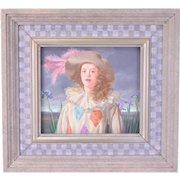 "1991 ""Pierrette with Irises"" Claude William Harrison Young Woman Pierrette Costume"