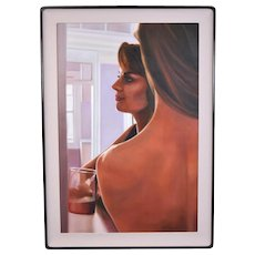 Adrian Deckbar 1987 Photorealist Oil Painting Intimate Women New Orleans