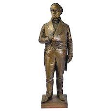 Bronze Sculpture Daniel Webster Statesman Constitutional Lawyer after Thomas Ball