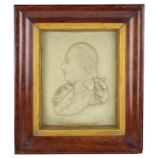 1797 Gen. George Washington Wax Portrait by George Rouse