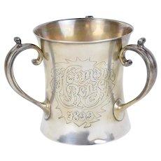Antique 1898 Gorham Sterling Silver 3-Handle Loving Cup