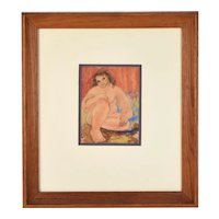 1930's Painting Nude African American Woman Milton Douthat Chicago Artist