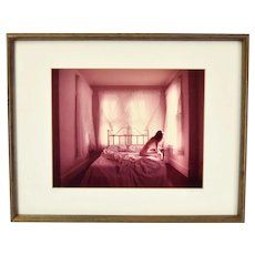 Limited Edition Photograph Circa 1980's Nude on Edge of Bed signed Dariush