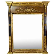 Vintage Labarge Gilt Wood Neo Classical Pier or Over Mantle Mirror