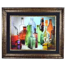 "Yankel Ginzburg ""Murano"" Photorealist Painting Antique Glass Bottles"