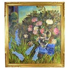 Olga Oreshnikov Flower Garden Oil Painting Russian Israeli artist