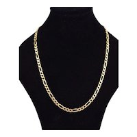 Italian Vintage Estate 14k Solid Yellow Gold Chain Link Necklace
