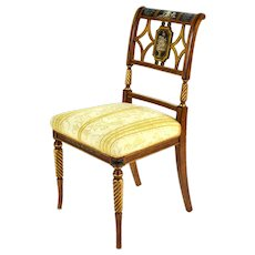 1 of 4 Fine Italian Galimberti Lino Chairs Hand-Painted Neoclassical Scenes