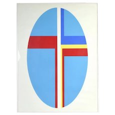 Ilya Bolotowsky Russian/American Modern Abstract Oval Geometric Lithograph