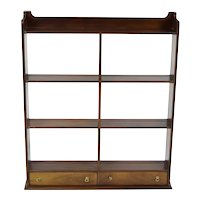 Vintage Chippendale Style Wall Shelf Curio Display Rack Kittinger Quality