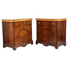 Vintage Pair of Empire or Biedermeier Chests of Drawers Nightstands