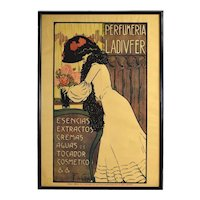 1903 Spanish Art Nouveau Advertising Poster Perfumeria Ladivfer