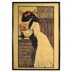 1903 Spanish Art Nouveau Advertising Poster Perfumeria Ladivfer