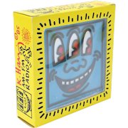 Vintage Keith Haring Pop Shop AM FM Radio 1985 Blue Three Eyed Face New in Box