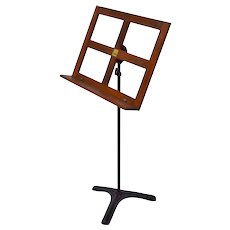 Vintage 1930's Hamilton Iron and Oak Music Stand Lectern Book Stand Podium