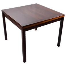 Vintage Rosewood Mid Century Danish Modern Dining Table Extendable Leaves