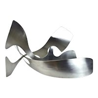 Jack Arnold Modernist Biomorphic Stainless Steel Abstract Sculpture Chicago