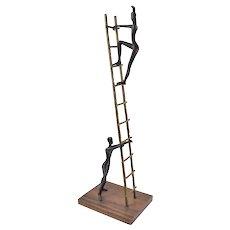 "2002 Limited Edition Tolla Inbar Bronze Sculpture ""Ladder of Success"""
