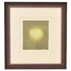 Arthur Luiz Piza Abstract Orb Intaglio Etching Limited Edition Signed