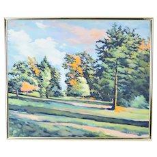 Into Autumn Door County Wisconsin Impressionist Painting by Judi Ekholm