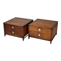 Pair Vintage Mid-Century Modern End Tables Nightstands John Keal for Brown Saltman