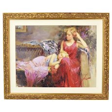 """Pino Daeni """"A Mother's Love"""" Hand Embellished L/E Giclee on Canvas 12/25 CP"""