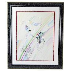"Alexandru Darida ""Remembrance from Venice"" Watercolor Painting Romanian"