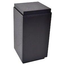 Vintage Modern Black Ebonized Oak Cabinet Pedestal Sculpture Stand