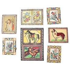 7 Watercolor Dog Bird Horse Paintings Chicago Outsider Artist Sylvia Roberti #4